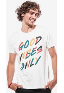 Camiseta Hermoso Compadre Good Vibes Only - Masculino-Branco