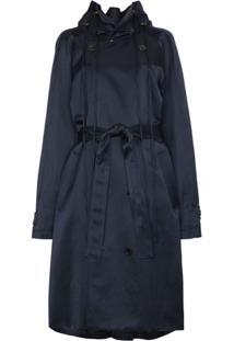 Y/Project Trench Coat Com Abotoamento Duplo - Azul