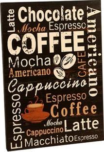 Quadro Decorativo De Parede Cappuccino - Unissex