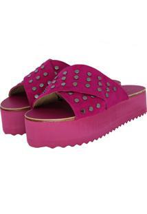 Sandália Zapplin Plataforma Pink