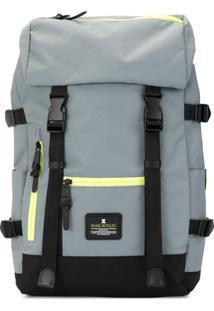 Makavelic Jade Double Buckle Evolution Backpack - Cinza