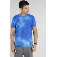 750ac38c4f Camiseta Masculina Ace Estampada Manga Curta Decote Redondo Azul Royal CEA