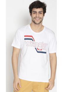 Camiseta Com Logo- Branca & Vermelhawrangler