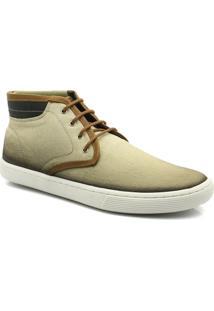 Bota Estilo Sapatênis Em Lona Po408 Keep Shoes - Masculino
