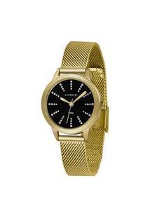 Kit Relógio Feminino Lince Lrgh123L-Kx13P1Kx Analógico 5Atm + Pulseira | Lince | Preto | U