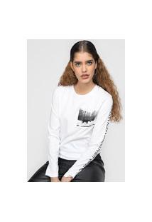 Blusa Calvin Klein Jeans Andy Warhol Landscape Branca