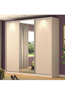Guarda-Roupa Casal 3 Portas Correr 1 Espelho 100% Mdf Rc3001 Noce - Nova Mobile