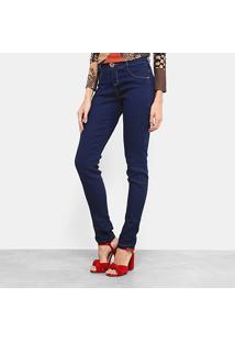 Calça Jeans Skinny Morena Rosa Escura Andreia Feminina - Feminino