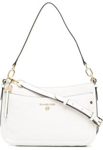 Michael Michael Kors Medium Jet Set Shoulder Bag - Branco
