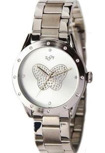 Relógio Feminino Buttterlfy - Feminino-Prata