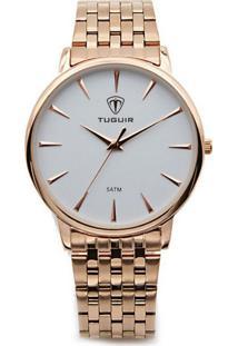 Relógio Tuguir Analógico 5041 Rose E Branco