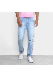 Calça Jeans Forum Paul Slim Masculina - Masculino-Azul Claro