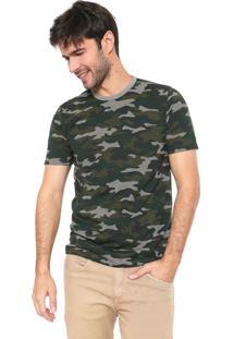 Camiseta Malwee Camuflada Verde