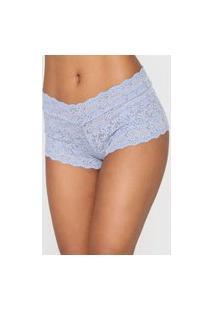 Calcinha Calvin Klein Underwear Caleçon Renda Azul