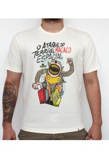 O Ataque Do Terrível Macaco Espacial - Camiseta Clássica Masculina