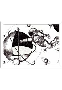 Quadro Decorativo Astronauta Branco - Médio