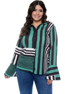 Camisa Art Final Plus Size Listrada Eloá Listrado