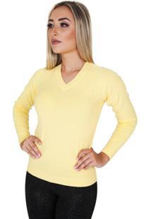 Suéter Damer Amarelo Manga Raglan