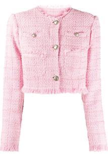 Brognano Jaqueta Cropped De Tweed - Rosa