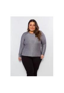 Blusa Plus Size Feminina Cereja Rosa De Malha Tricot