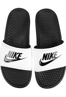 Sandália Nike Benassi Jdi Masculina - Masculino-Branco+Preto