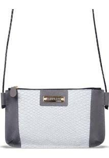Mini Bolsa Artlux Transversal 8095 - Feminino-Cinza
