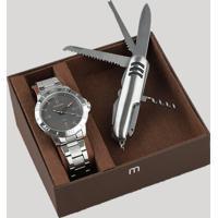 6d2a818cc8e Kit De Relógio Analógico Mondaine Masculino + Canivete - 99252G0Mvne2K  Prateado - Único
