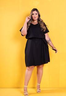 Vestido Tropicália Black Plus Size