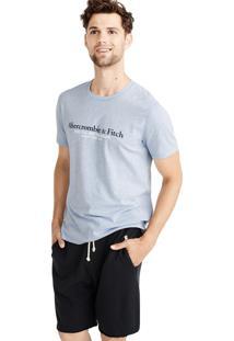 Camiseta Manga Curta Abercrombie Gráfica Azul
