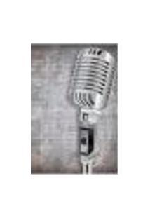 Painel Adesivo De Parede - Microfone - Música - 1645Png