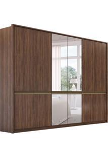 Guarda-Roupa Casal Com Espelho Urban 6 Pt 4 Gv Imbuia