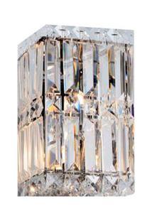Arandela Para 1 Lâmpada G9 40W Transparente Trento Cristal Altaluce