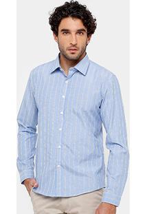 Camisa Blue Bay Listras Fio Tinto - Masculino