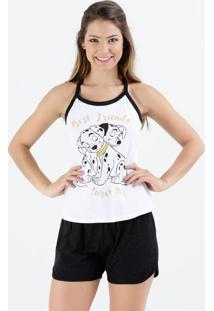 Pijama Feminino Short Doll 101 Dalmatas Disney