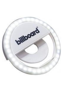 Luminária Led Selfie Ring Light Billboard Recarregável Com Clipe Branca