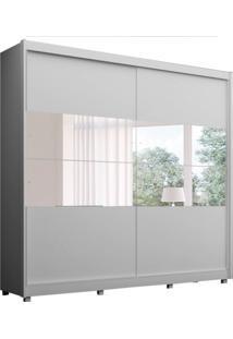 Guarda-Roupa Casal Com Espelho Orfeu 2 Pt 5 Gv Branco