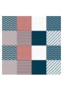 Papel De Parede Autocolante Rolo 0,58 X 3M - Azulejo Listras Xadrez 283692248