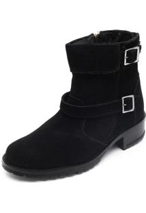 Bota Biker Dafiti Shoes Fivelas Preta