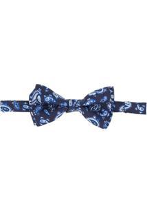 Etro Gravata Borboleta Com Estampa Paisley - Azul