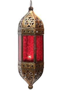 Lanterna Indiana Pendente 33Cm - Red