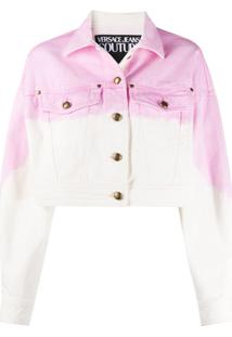Versace Jeans Couture Jaqueta Jeans Cropped - Rosa