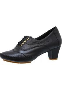 Sapato Salto Feminino Doctor Shoes 790 Preto - Preto - Feminino - Couro - Dafiti
