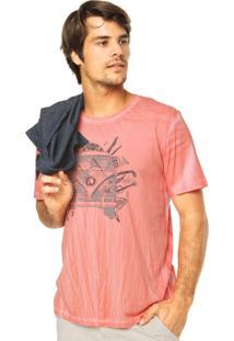 Camiseta Mandi Estampa Laranja