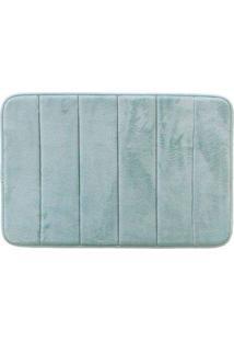 Tapete Para Banheiro Antiderrapante Soft Verde Piscina 40X60Cm - Multicolorido - Dafiti