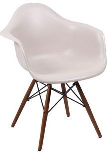Poltrona Eames Dkr Com Braã§Os- Fendi & Marrom- 82X62Or Design