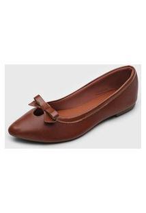 Sapatilha Dafiti Shoes Laço Caramelo