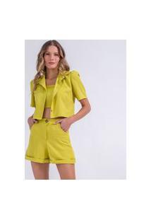 Blazer Camisa Cropped Lima-G Incolor