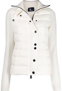 Moncler Grenoble Button-Up Padded Jacket - Neutro