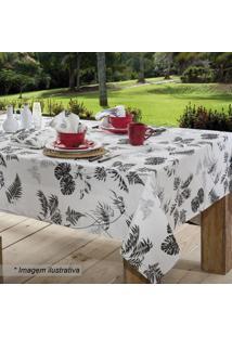 Toalha De Mesa Panamã¡ Tropical- Branca & Preta- 250Xsultan