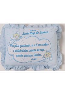 Travesseiro Santo Anjo Infantil Para Bebê - Azul